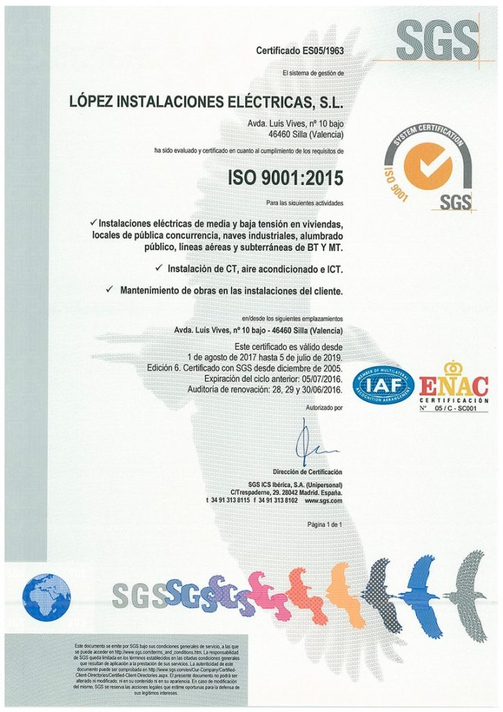 _Cert-ISO-9001-2017-Lopez Electricas